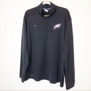 Nike NFL Philadelphia Eagles Half Zip Pullover